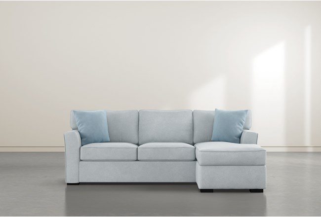 """Aspen Tranquil Foam 93"""" Sofa With Reversible Chaise - 360"""