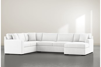 "Cypress II Foam 3 Piece 136"" Sectional With Right Arm Facing Chaise"