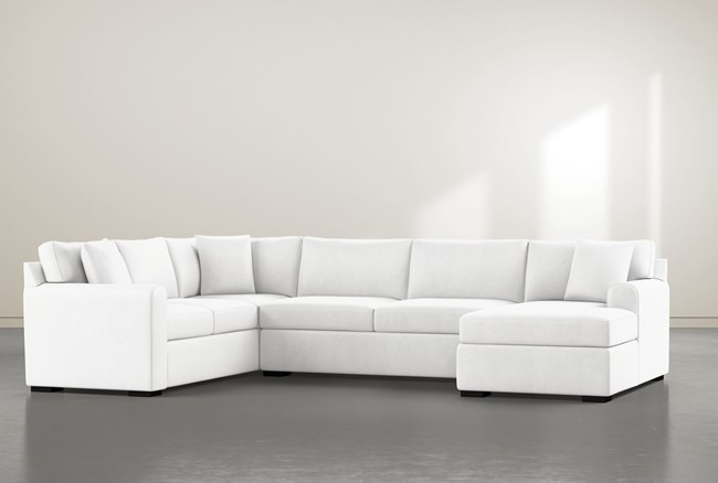 """Cypress II Foam 3 Piece 136"""" Sectional With Right Arm Facing Chaise - 360"""