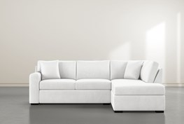 """Cypress II Foam 2 Piece 104"""" Sectional With Right Arm Facing Armless Chaise"""