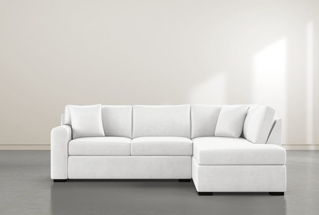 """Cypress II Foam 2 Piece 104"""" Sectional With Right Arm Facing Armless Chaise - 360"""