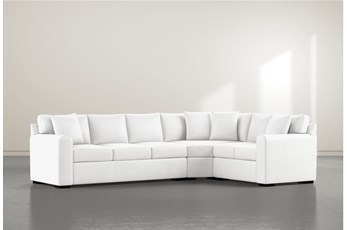 "Cypress II Foam 3 Piece 125"" Sectional With Left Arm Facing Sofa"