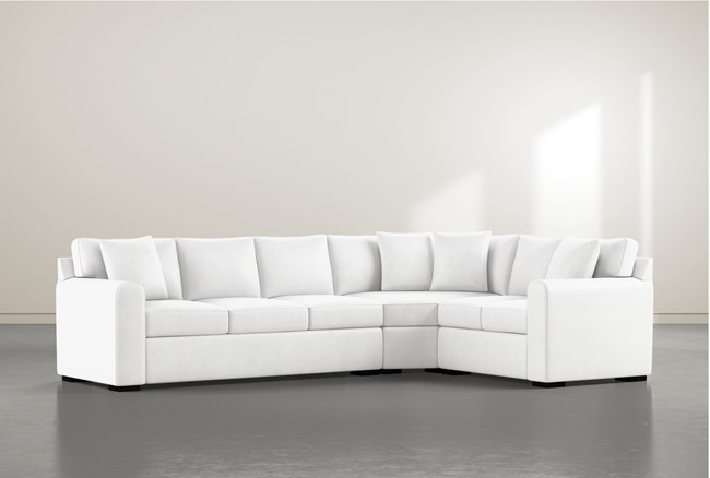 """Cypress II Foam 3 Piece 125"""" Sectional With Left Arm Facing Sofa - 360"""