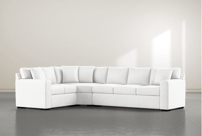 """Cypress II Foam 3 Piece 125"""" Sectional With Right Arm Facing Sofa - 360"""