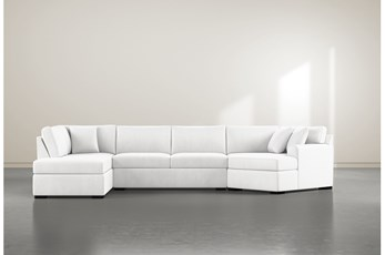 "Cypress II Foam 3 Piece 163"" Sectional With Left Arm Facing Armless Chaise"