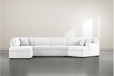 """Cypress II Foam 3 Piece 163"""" Sectional With Left Arm Facing Armless Chaise"""