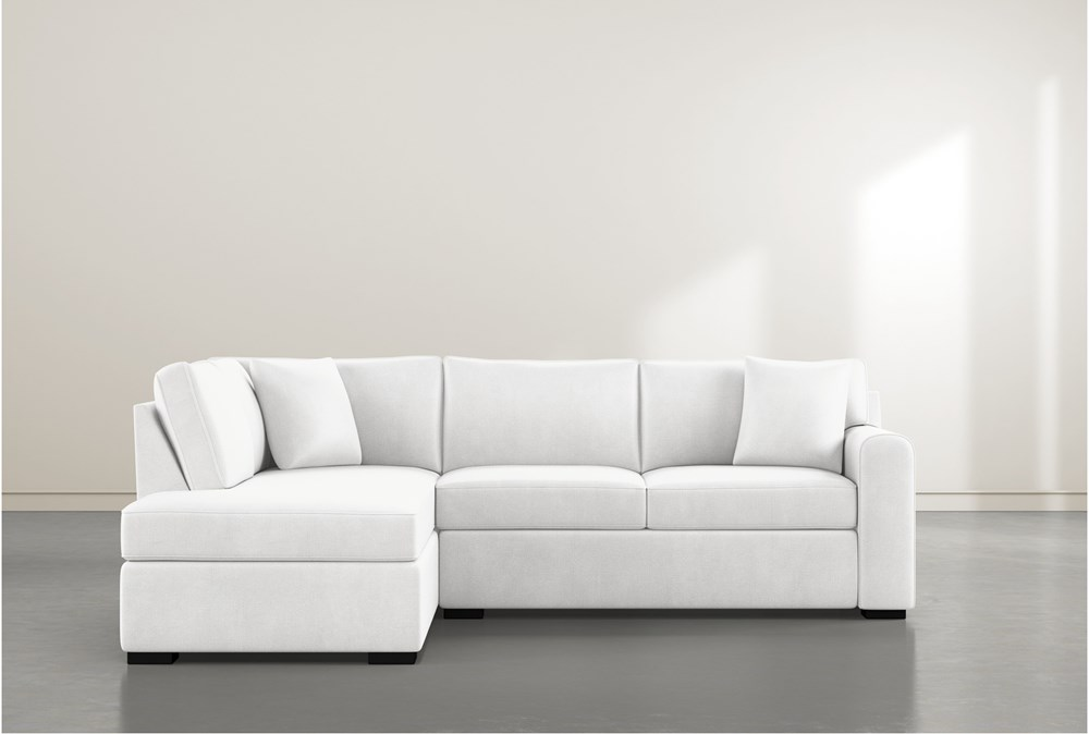 Cypress II Foam 2 Piece Sectional With Left Arm Facing Armless Chaise