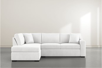 """Cypress II Foam 2 Piece 104"""" Sectional With Left Arm Facing Armless Chaise"""