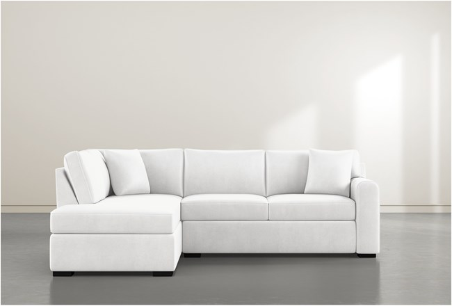 Cypress II Foam 2 Piece Sectional With Left Arm Facing Armless Chaise - 360