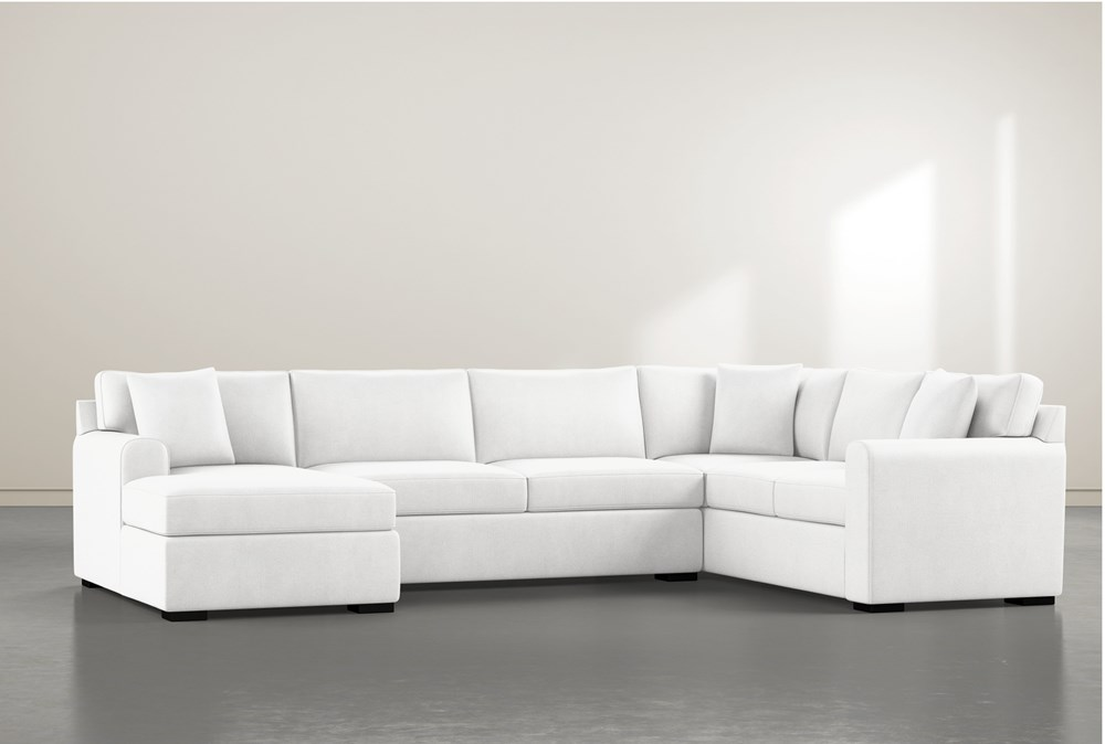 """Cypress II Foam 3 Piece 136"""" Sectional With Left Arm Facing Chaise"""