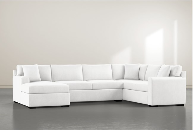 """Cypress II Foam 3 Piece 136"""" Sectional With Left Arm Facing Chaise - 360"""