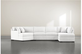 Cypress II Foam 3 Piece Sectional With Right Arm Facing Armless Chaise