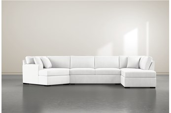 "Cypress II Foam 3 Piece 163"" Sectional With Right Arm Facing Armless Chaise"