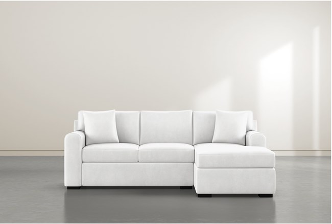 """Cypress II Foam 93"""" Sofa With Reversible Chaise - 360"""