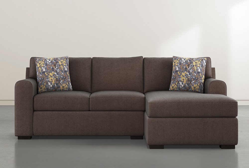 "Cypress II Foam 93"" Sofa With Reversible Chaise & Storage Ottoman"