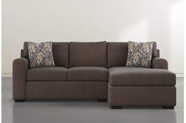 Cypress II Foam Sofa With Reversible Chaise & Storage Ottoman