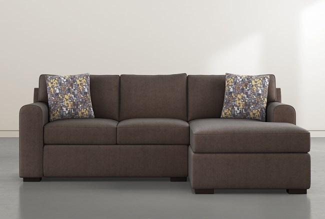 "Cypress II Foam 93"" Sofa With Reversible Chaise & Storage Ottoman - 360"