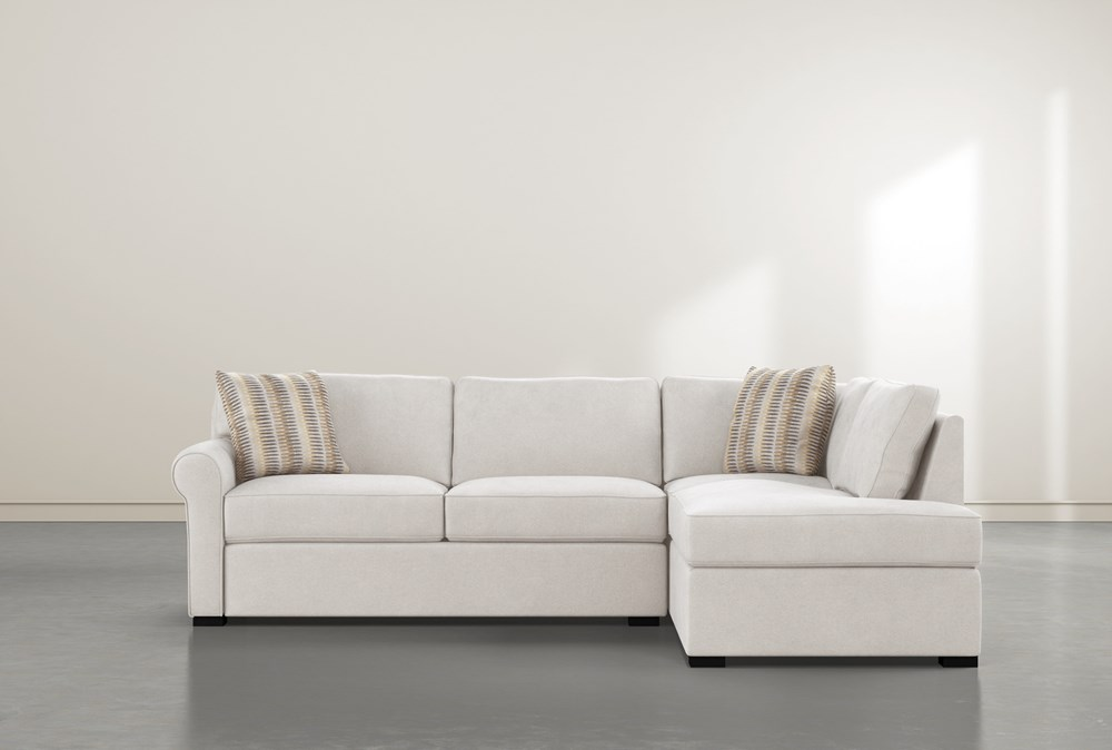 Elm II Foam 2 Piece Sectional With Right Arm Facing Armless Chaise