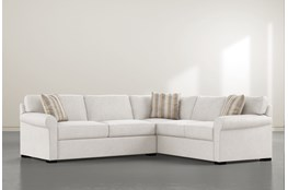 "Elm II Foam 2 Piece 108"" Sectional With Left Arm Facing Condo Sofa"