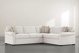 "Elm II Foam 2 Piece 108"" Sectional With Left Arm Facing Condo Sofa"