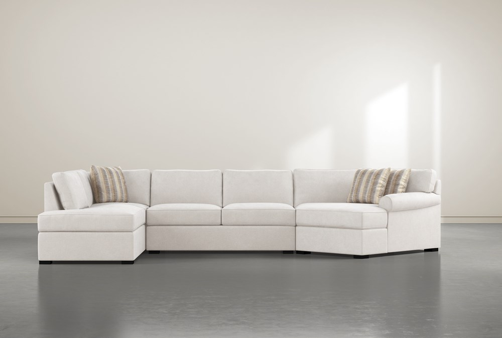 """Elm II Foam 3 Piece 163"""" Sectional With Left Arm Facing Armless Chaise"""