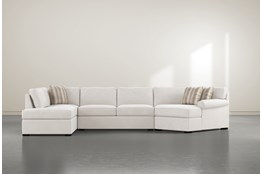 "Elm II Foam 3 Piece 163"" Sectional With Left Arm Facing Armless Chaise"