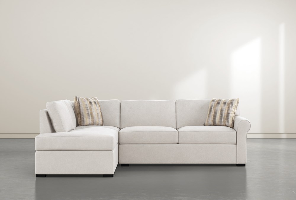 Elm II Foam 2 Piece Sectional With Left Arm Facing Armless Chaise