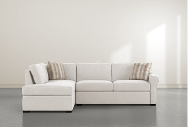 """Elm II Foam 2 Piece 108"""" Sectional With Left Arm Facing Armless Chaise"""