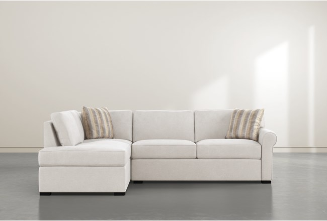 Elm II Foam 2 Piece Sectional With Left Arm Facing Armless Chaise - 360