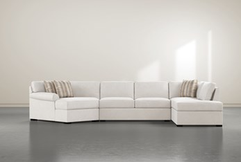 """Elm II 3 Foam Piece 163"""" Sectional With Right Arm Facing Armless Chaise"""