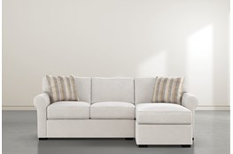 "Elm II Foam 93"" Sofa With Reversible Chaise"