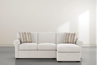 "Elm II Foam 93"" Sofa With Reversible Chaise"