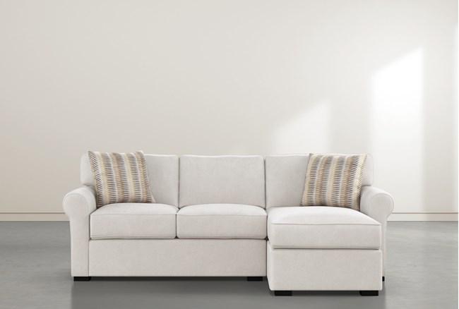 "Elm II Foam 93"" Sofa With Reversible Chaise - 360"