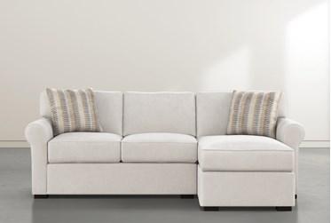 "Elm II Foam 93"" Sofa With Reversible Chaise & Storage Ottoman"