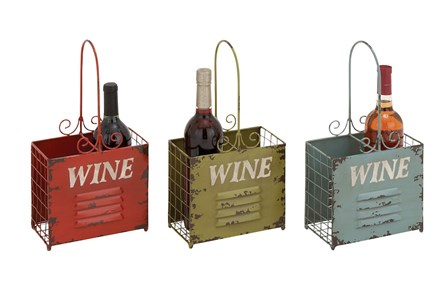 15 Inch Colored Wine Holder