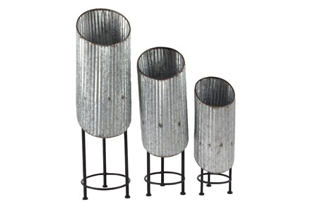 Industrial Plant Stand Set Of 3