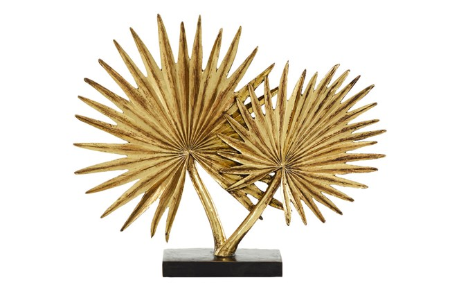 16 Inch Gold Leaf Sculpture - 360