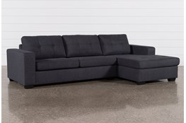 Remington Charcoal 2 Piece Sleeper Sectional With Right Arm Facing Storage Chaise