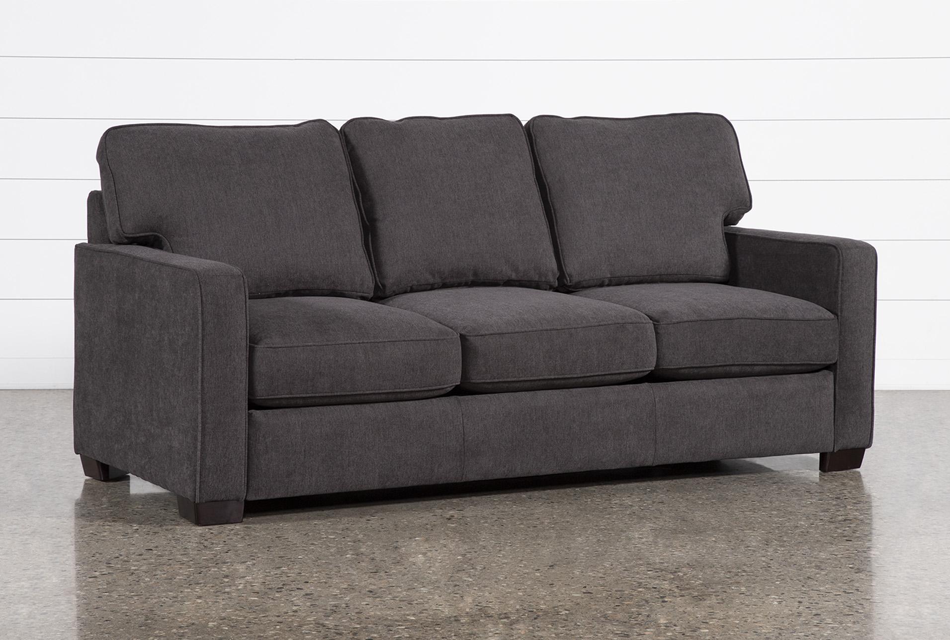- Morris Charcoal Full Sleeper Sofa With Memory Foam Mattress