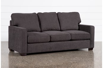"Morris Charcoal 74"" Full Sleeper Sofa With Pillow Top Mattress"