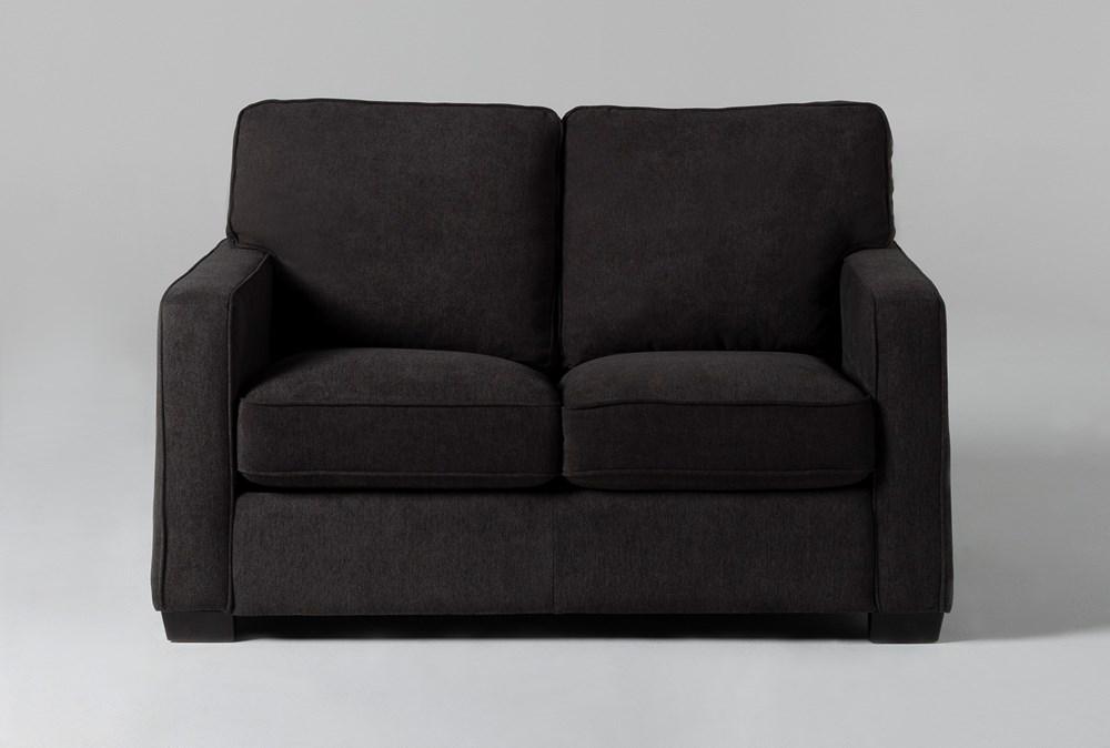 Morris Charcoal Twin Sleeper Sofa With Memory Foam Mattress