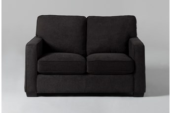Morris Charcoal Twin Sleeper Sofa With Memory Foam Mattress