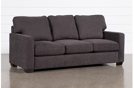 "Morris Charcoal 82"" Queen Sleeper Sofa With Innerspring Mattress"