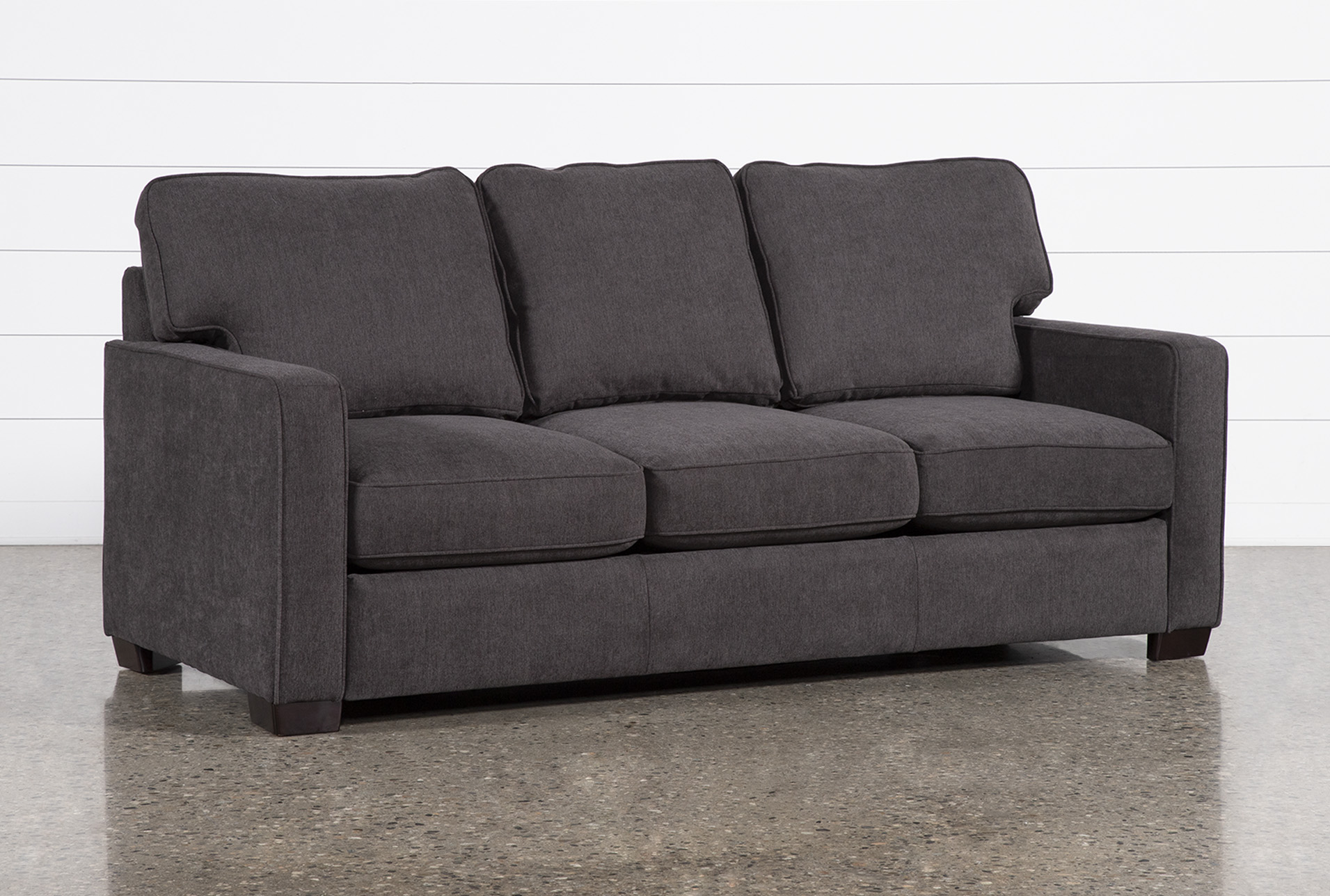 - Morris Charcoal Queen Sleeper Sofa With Memory Foam Mattress