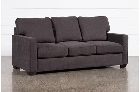 Morris Charcoal Queen Sleeper Sofa With Memory Foam Mattress