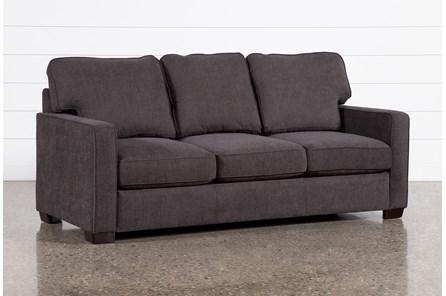 Morris Charcoal Queen Sleeper Sofa With Pillow Top Mattress
