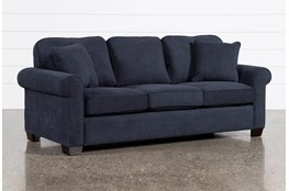 "Margot Denim 81"" Full Sleeper Sofa With Innerspring Mattress"