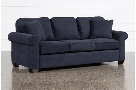 Margot Denim Full Sleeper Sofa With Innerspring Mattress