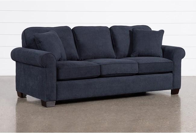 Margot Denim Full Sleeper Sofa With Memory Foam Mattress - 360