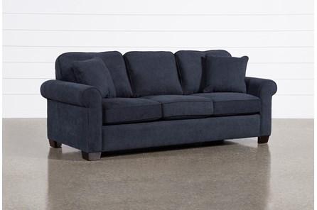 Margot Denim Full Sleeper Sofa With Pillow Top Mattress